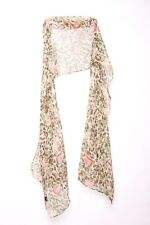 Floral Print Red Green Beige Brown Stylish Long Scarf (S34)