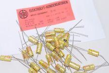 4x Elko-Kondensator von FRAKO Serie EHF, 47 µF, 25 V audio capacitor, NOS