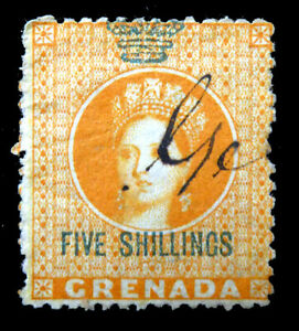 GRENADA 1875 - 5/- Revenue No Gum DG706