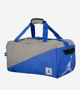 Nike Air Jordan Jumpman Water-resistant Gym Bag Hyper Royal/Gray 8A0083-U5H