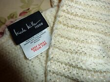 """NICOLE MILLER LUXURY THICK CABLE KNIT WEAVE THROW 62x60"""" BLANKET"""