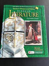 Glencoe Literature Teacher's Wraparound Edition British Literature 12th Grade