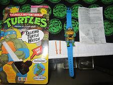 TMNT Ninja Turtle Talkin Leonardo Watch