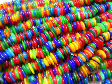 Colorful Shell Discs Spacers Chips 32 inches long! apx 8-10mm