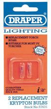 Genuine DRAPER Spare Bulbs (2) for Lanterns/Torches | 57631
