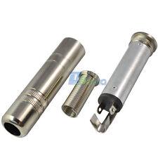 "6.35mm Female Socket 1/4"" inch Mono Jack Audio Metal Adaptor Adapter Connector"