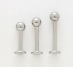 """10 Steel 14g 3/8"""" Labrets Lip Rings Wholesale Lot 4mm"""