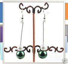 Dangling Acrylic Green colour Ball Earrings, fashion accessories