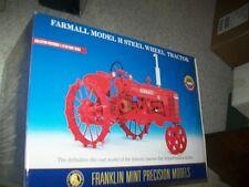 Farmall Model H Steel Wheel Tractor - Franklin Mint  - New in Box