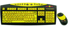 Keys-U-See® Large Print Wireless Keyboard & Mouse for Low Vision