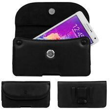 VanGoddy Leather Phone Pouch Belt Loop Holster For Motorola Moto G6 Plus/E5 Plus