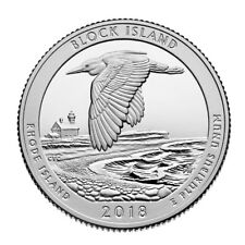 In Stock!!! 2018-S Block Island National Park Quarter - Silver Deep Cameo Proof
