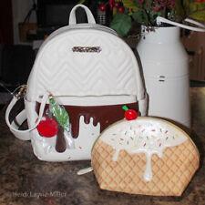 Betsey Johnson BETSEYVILLE Ice Cream SUNDAE Backpack Cosmetic & Book Bag RARE