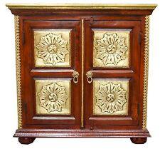 Sideboard Storage Cabinet Buffet Vanity Statement Indian Moroccan Antique Brass