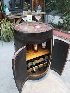 Oak barrel drinks cabinet