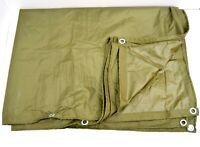 Dutch Army Large Waterproof Tarp Basha Shelter Sheet Bivi Ground Cover Tarpaulin
