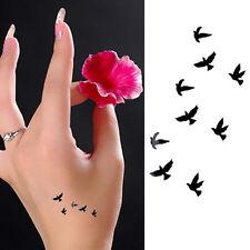 2Pcs Girl Waterproof Temporary Tattoo Body Art Flying Birds Sticker Removable