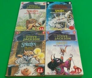Sorcery Full Set ***GOLD FOIL 1-4!!*** Puffin Fighting Fantasy Steve Jackson #1