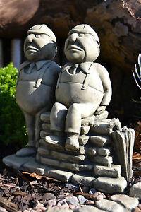 Alice's Adventures in Wonderland Stone Garden Ornament (Tweedle Dum Tweedle Dee)