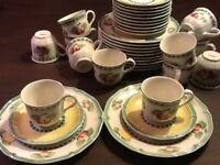 1x 3tlg.Kaffeegedeck VILLEROY&BOCH French Garden Kaffeetasse coffee set