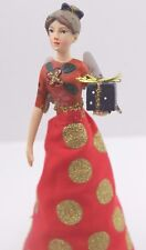 GISELA GRAHAM CHRISTMAS RESIN FABRIC FASHION FAIRY ANGEL TREE TOP SMALL