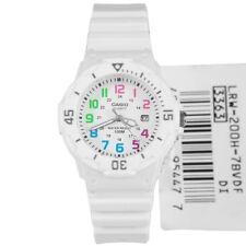 LRW-200H LRW-200H-7B Casio Quartz Female Date Sports White Rubber Strap Watch