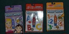 New Melissa And Doug Water Wow Lot 7 Lot of 3 Alphabet Numbers Makeup