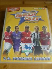 SHOOT OUT TRADING FOOTBALL CARDS BOOK AND OVER 295 CARDS. 2006 - 2007.