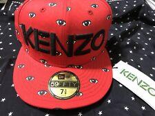 NEW ERA 59fifty BNWT KENZO X NEW ERA WHITE & BLACK ALL OVER EYES red