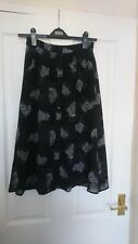Topshop black floral midi skirt Archive collection size 6