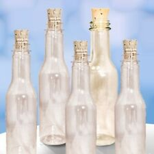 20 Plastic Bottles & Corks for Message in a Bottle Invitations, New