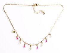 Regal-Verde Diamanté/Blanco Y Rosa De Cristal Transparente/Collar De Oro (Zx303)