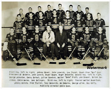 1947 AHL Cleveland Barons Team Picture Black & White 8 X 10 Photo Pic Free Ship