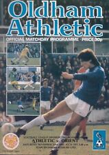 Oldham Athletic v Orient November 22nd 1980 - Official Matchday Programme