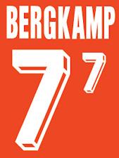 Holland Bergkamp Nameset 1992 Shirt Soccer Number Letter Heat Print Football H