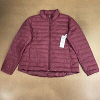 Old Navy Active Women's Size XL Burgundy Packable Puffer Jacket NWT