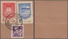 China - Used stamps on piece of paper. Mi nr.: 298+363-364. (Vg) Mv-4378