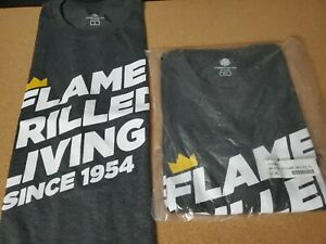 NEW BURGER KING Employee Uniform Work Shirt Flame Grilled Living Mens Size 2XL