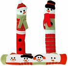 Kitchen Appliance Handle Covers, Holiday Snowman Theme, Fridge, Freezer, Oven photo