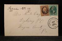 Pennsylvania: Banksville 1883 Registered Cover, DPO Allegheny Co