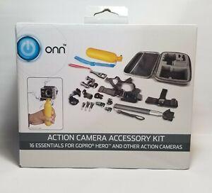 16-Piece Action Camera Accessory Kit Selfie Stick Float Grip ONA18CA003 New