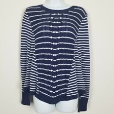 Cupio Womens Sweater Medium NWT Blue White Long sleeves