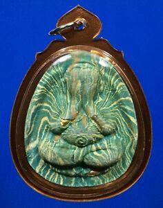 Thai amulet Phra Pidta  LP Pea CASE Thai Buddha Amulet