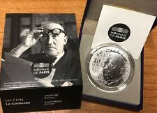 France 2015 LE CORBUSIER 10 euro Silver Proof -  Architecture Francia argent