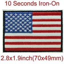 American Flag Iron On Embroidered Applique Patch Patriotic USA Sewing Craft DIY