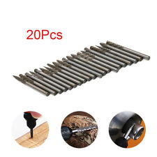 "20Pcs 1/8"" Shank Tungsten Carbide Rotary Burr Drill Bit Tool Engraving Files Set"