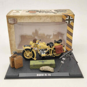 BMW R75 Motorcycle World War II 1939-1945 Yellow 1:24 Diecast Model Collection