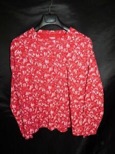 Columbia 3X Red Mountain Cabin PJ Top Waffle Texture Woman Pajama Shirt 3XL