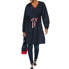 TOMMY HILFIGER NEW Womens Navy Drawstring-waist Utility...