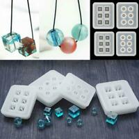 12-16mm Blue Silicone DIY Bead Mold Bracelet Pendant Jewelry Making Mould Resin